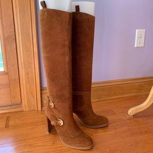RARE Stuart Weizmann Suede Knee-High Boots sz 8.5